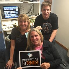 Lynn is a hy-genius!! Do we have any followers who were patients when Melissa was one of our dental assistants?! #parkridgedentist #dentalassistant #dentalhygienist