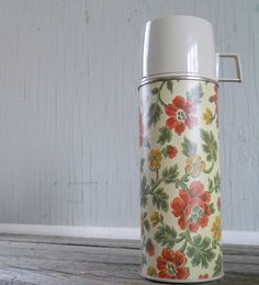Vintage Girls Thermos Brand Thermos Floral Pattern. $12.00, via Etsy.