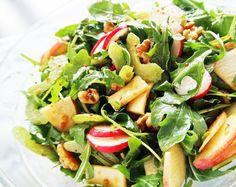 Crunchy Winter Salad with Balsamic Honey Mustard Dressing