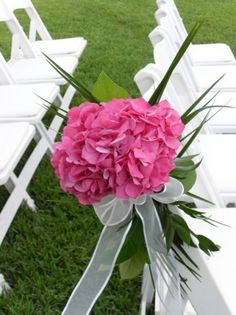 wedding chair decoration ideas | Photo Gallery - Photo Of Hydragea Chair Decorations