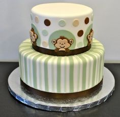 gender neutral monkey cake