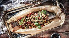 Pečený pstruh se zeleninou ratatouille