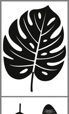 Stencil Patterns, Stencil Designs, Pattern Art, Stencils, Leaf Stencil, Leaf Template, Flower Template, Flower Art Drawing, Diy Canvas Art