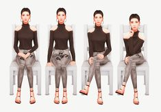 "aleesha: "" Simply Sitting Poses Okay so I don't know about anyone else, but some simple sitting poses were seriously needed for my game. I didn't want expressions, I could always Photoshop a smile if I wanted. Just plain sitting poses. I figured I'd. Sims 4 Game Mods, Sims Mods, Sims Games, Sims 4 Cc Skin, Sims Cc, Sims 4 Cc Kids Clothing, Sims 4 Cc Shoes, Sims 4 Cc Makeup, Sitting Poses"