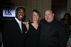 Emcee Wayne Dawson, Sara Donnersbach and Chef Jim Cox at the 2007 Signature Chefs Auction ~ Thom Sheridan, Sheridan Photography for Clevelandmagazine.com