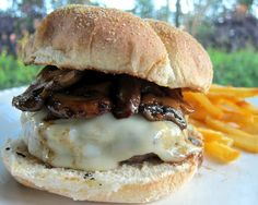 Mushroom Swiss Burgers - My all-time favorite burger!