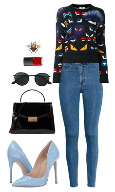 Street style by dalma-m on Polyvore featuring polyvore fashion style Fendi H&M Steve Madden Tory Burch Gucci Ray-Ban NARS Cosmetics clothing