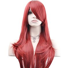 """Outop 28 """"High Quality Women's Hair Wig New Fashion Woman's Long Big Wavy Hair Heat Resistant Wig for Cosplay Party Costume (Wine Red) Costume Wigs, Cosplay Wigs, Costumes, Ariel Cosplay, Big Wavy Hair, Long Curly, Butterfly Halloween Costume, Bandeau, Wig Hairstyles"""