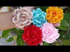 Flor exótica de listón - YouTube