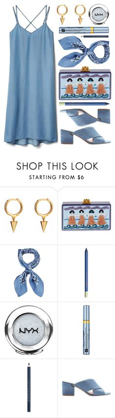 """Blue Strings"" by monmondefou ❤ liked on Polyvore featuring Edie Parker, Manipuri, Pixi, NYX, Estée Lauder, Chantecaille, Sigerson Morrison and Blue"