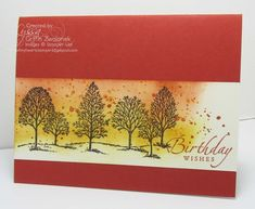 Stampin Up Lovely as a Tree & Gorgeous Grunge card by Lyssa. Cajun craze & crushed curry
