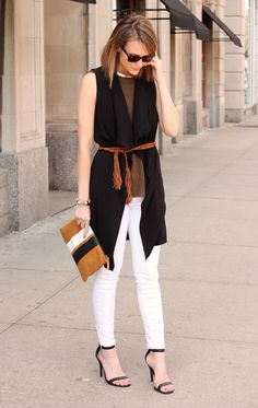 neutral outfit and clutch