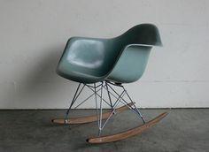 Eames for Herman Miller Fiberglass Arm Chair Rocker-RAR. $599.00, via Etsy.