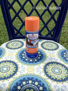 Thompson's Water Seal Fabric Seal- Waterproof and UV protection.didn't know this stuff existed Diy Projects To Try, Home Projects, Craft Projects, Craft Ideas, Fun Ideas, Creative Ideas, Sewing Projects, Do It Yourself Design, Do It Yourself Home