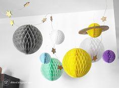 Inspiración: Decorar con bolas de papel nido de abeja
