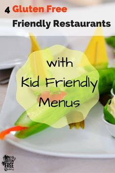 Check out these 4 restaurants where your child can get a gluten free kids meal.  We searched high and low and found 4 gluten free friendly restaurants that also offer gluten free items on the kids menus. There's also a FREE gluten free dining card!
