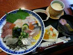 Seafood Sashimi Bowl @ Tottori, Japan