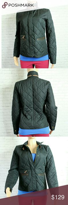 """Ralph Lauren Black Quilted Jacket Warm and stylish rare black quilted jacket. Perfect for those cold winter months ahead. Has Faux brown leather lining the pockets and a clasp along the collar.   Fully lined. EUC  Size Small  Bust 18"""" Length 24"""" Ralph Lauren Jackets & Coats Puffers"""