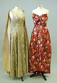 Norman Hartnell ballgown, circa 1955 and late 1950s