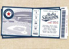 Vintage Baseball Invitation - Baseball Baby Shower - DIY Printable ...