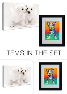 """""""Puppy canvas"""" by jordanbond55 ❤ liked on Polyvore featuring art"""