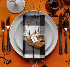 so pretty and simple for Thanksgiving -- from an IKEA email. love the string and the leaf...