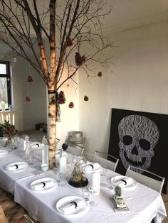 Christmas table decorations / julebord