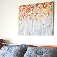 Mustard Yellow and Grey Wall Art, Textured Painting, Abstract ...