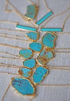 RAW turquoise necklace Kei Jewelry
