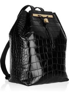 The Row's black alligator backpack $34,000