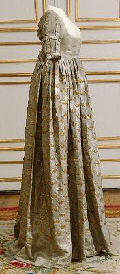 Queen Fredrika's coronation dress worn at the coronation of St. Olav's Church April 4, 1800.