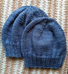 fabulous, simple pattern for children's hats (and, using a chart that shows sizing, easy to resize, because this shows 2, so you know the difference)