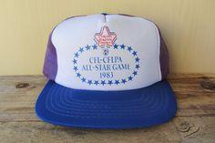 Vintage 1983 CFL-CFLPA All-Star Game Trucker Hat @ HatsForward