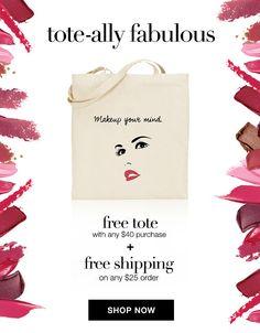 Available while supplies last https://wwicklund.avonrepresentative.com/ #freetote #beauty #avon