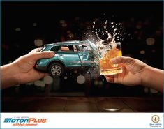 Don't Drink and Drive - December AD on Behance Ads Creative, Creative Posters, Creative Advertising, Road Safety Poster, Social Awareness Posters, Advertising Design, Advertising Campaign, Drive Poster, Dont Drink And Drive