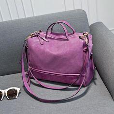 2016 New Arrive Women Shoulder Bag Nubuck Leather Vintage Messenger Bag Motorcycle Crossbody Bags Women Bag