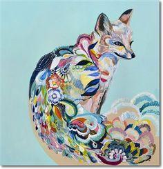 Beautiful fox painting by Starla Michelle Halfmann