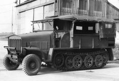 The Bedford Traclat - a British attempt to utilize German Sd.Kfz.7 half-track. Built by Bedford Motors (subsidiary of Vauxhall Motors); designated the Bedford Tractor and code named Traclat (from Tracked Light Artillery Tractor). Its intended use was to tow the 17 pounder, 25 pounder and Bofors 40-mm guns but the war ended too soon. Never went into production