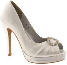 Women's Dyeables Gianna, Size: 8 B, White Satin