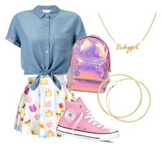 """Untitled #14"" by tytiana-ransom on Polyvore featuring Miss Selfridge and Converse"