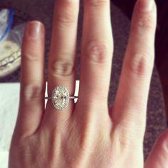 Big Engagement Rings On Finger 22