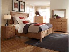 American Woodcrafters Bedroom Essentials Queen Panel Bed