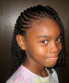 natural twist hairstyles for little girls