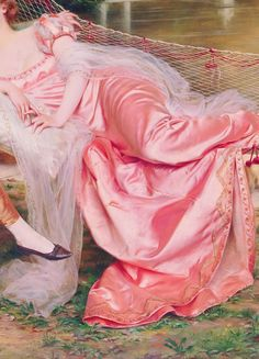 """warpaintpeggy: """" INCREDIBLE DRESSES IN ART (134/∞) Flirtation by Frederic Soulacroix """""""