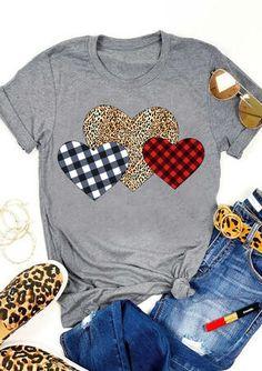 Skinny Jeans Grunge Valentine Plaid Leopard Printed Splicing Heart T-Shirt. Skinny Jeans Grunge Valentine Plaid Leopard Printed Splicing Heart T-Shirt. Valentine Shirts, Valentines Diy, Vinyl Shirts, Shirts & Tops, Cute Shirts, Plaid Shirts, Tank Tops, Women's Buffalo Plaid, Graphic T Shirts