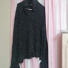 Black dressy sweater Black dressy button up sweater Sweaters