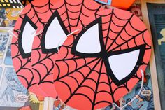 Spiderman Super Hero Printable Birthday Party Spidey Mask - Petite Party Studio on Etsy, $6.70 CAD