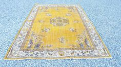 Turkish Overdyed Antique HanWoven Carpet Rug  by BirinciHali