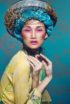 Make up : D.Y (Derek Yuan) - Hair Style : Daniel Wong - Model : Kha My Van - Stylist : Kim Tuyen - Photographer : Quang Khue