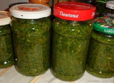 Rosołowa pasta warzywna. Preserves, Pickles, Cucumber, Mason Jars, Curry, Homemade, Green, Food, Turmeric